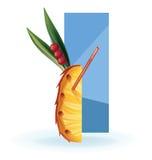 Slice of exotic fruit decorated like cocktail Stock Photo