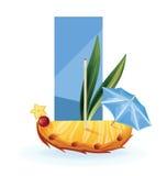 Slice of exotic fruit decorated realistic isolated Royalty Free Stock Image