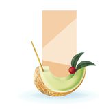 Slice of exotic fruit decorated realistic isolated Stock Photography