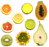 Slice exotic fruits Royalty Free Stock Photos