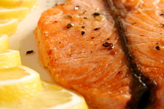 A slice of fish Royalty Free Stock Photo