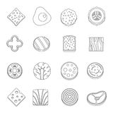 Slice food ingredient icons set, outline style. Slice food ingredient icons set. Outline illustration of 16 slice food ingredient vector icons for web vector illustration