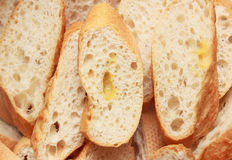 Slice french baguette Stock Images