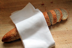 Slice french baguette Royalty Free Stock Photos