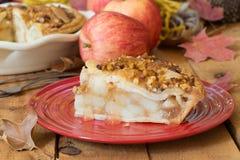 Slice of Fresh Apple Pie Stock Photos