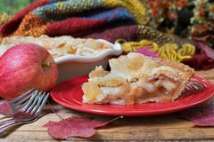 Slice of Fresh Apple Pie Royalty Free Stock Images