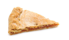 Slice of fresh baked apricot pie Royalty Free Stock Photography