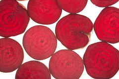 Slice of fresh beetroots Royalty Free Stock Images