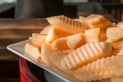 Slice of fresh cantaloupe Royalty Free Stock Images