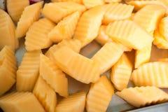Slice of fresh cantaloupe Stock Image