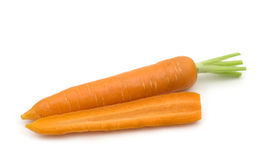 Slice fresh carrot Stock Photos