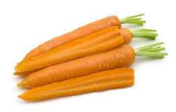 Slice fresh carrots Stock Photos