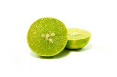 Slice fresh green lime Stock Photos