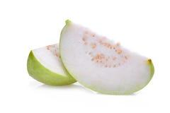 Slice of fresh guava fruit solated on white Royalty Free Stock Photo