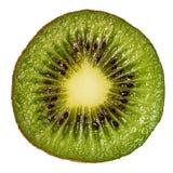 Slice of fresh juicy kiwi fruit. Slice of fresh juicy kiwi fruit isolated on white background stock photos