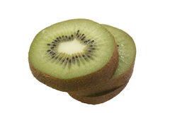 Slice of fresh kiwi fruit isolated on white Royalty Free Stock Photography