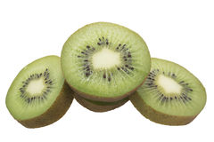 Slice of fresh kiwi fruit isolated on white Stock Image