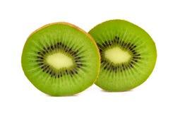 Slice of fresh kiwi fruit isolated on white background.  stock photos