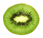 Slice of fresh kiwi fruit isolated on white background Stock Image