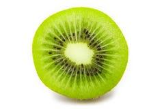 Slice of fresh kiwi fruit isolated on white Royalty Free Stock Photo