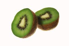 Slice of fresh kiwi fruit isolated Royalty Free Stock Photos