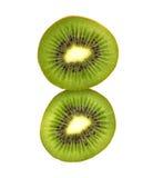 Slice of fresh kiwi fruit isolated on white background Stock Photos