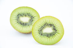 Slice of fresh kiwi fruit Stock Photography