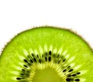 Slice of a fresh Kiwi / Super Macro Royalty Free Stock Image