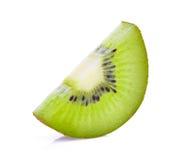 Slice of fresh kiwi  on white Stock Image