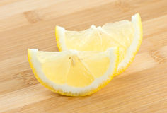 Slice of lemon background Royalty Free Stock Photos