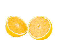 Slice of fresh lemon isolated Stock Image