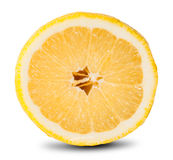 Slice Of Fresh Lemon Royalty Free Stock Photos