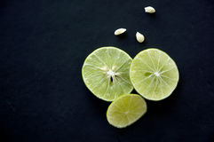 Slice fresh lime Stock Photos