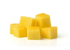 Slice of fresh mango isolated on white background Stock Photo