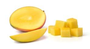 Slice of fresh mango  on white background Stock Photography