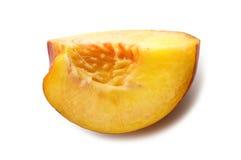 Slice fresh nectarine Royalty Free Stock Photos