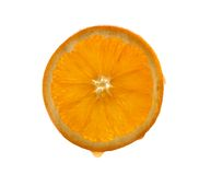 Slice of fresh orange Royalty Free Stock Image