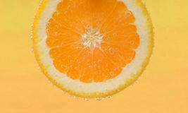 Slice of fresh orange Stock Photos