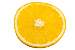 Slice of fresh orange isolated Royalty Free Stock Photography