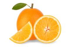 Slice of fresh orange isolated on white background Royalty Free Stock Image