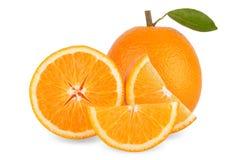 Slice of fresh orange isolated on white background Stock Image