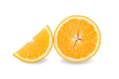 Slice of fresh orange isolated on white background Royalty Free Stock Photo