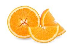 Slice of fresh orange isolated on white background Stock Images