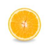Slice of fresh orange isolated on white background Royalty Free Stock Photography