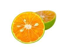 Slice of fresh orange isolated. Royalty Free Stock Photos