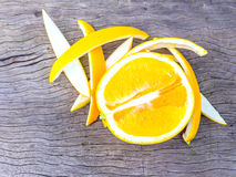Slice of fresh orange Royalty Free Stock Photography