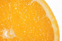 Slice of fresh orange Stock Images