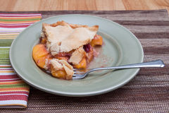 Slice of fresh peach pie Royalty Free Stock Images