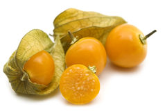 Slice fresh physalis Stock Image