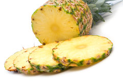 Slice fresh pineapple Stock Photography